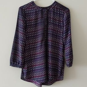 NYDJ Blouse 3/4 Sleeve 3/4Button down Size Small